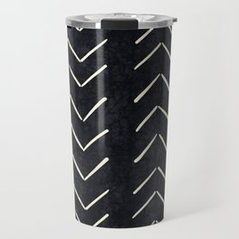 Mudcloth Big Arrows in Black and White Travel Mug