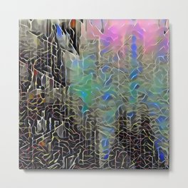 Lines and Smears Metal Print