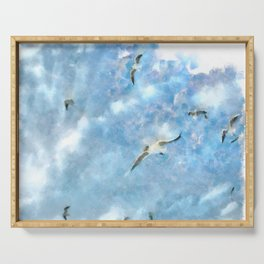 The Chasers - Seagulls In Flight Serving Tray