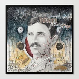 Tesla, Unlimited Power Canvas Print