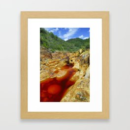 Red River. Huelva. Framed Art Print