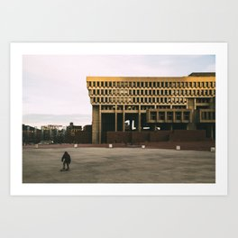 Boston - City Hall Skater Art Print