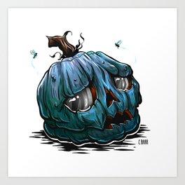Sad Pumpkin Art Print