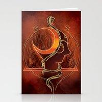 shiva Stationery Cards featuring Shiva by Natália Estevez