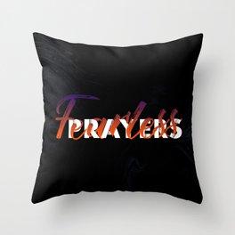 Fearless Prayers Throw Pillow