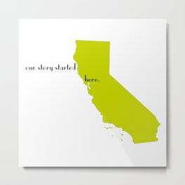 san francisco love Metal Print