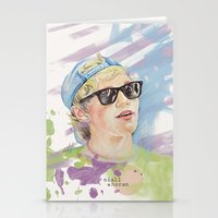 niall horan Stationery Cards featuring Niall Horan glasses by vanessa