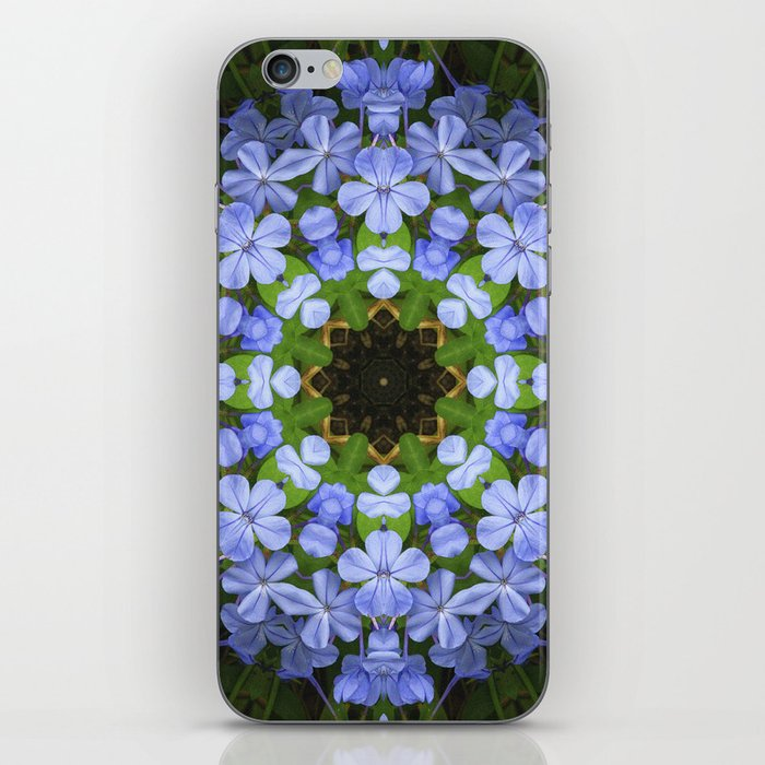Blue Plumbago Kaleidoscope 11 iPhone Skin