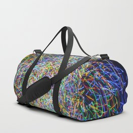 Ball of String Light painting Duffle Bag