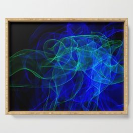 Abstract smoke of colors. Pattern of soft waveforms. Serving Tray