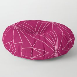 Art Deco in Raspberry Pink - Large Scale Floor Pillow