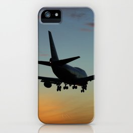 747 Sunset Landing iPhone Case
