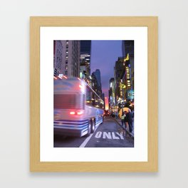 New York Sky is the Limit Framed Art Print