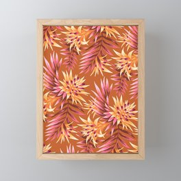 Fasciata Tropical - Orange Framed Mini Art Print