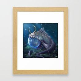 Guppy Character Design Painting Framed Art Print