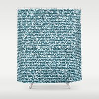 pool Shower Curtains featuring POOL by aurelien vassal