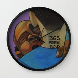 365 Days With Dad Wall Clock