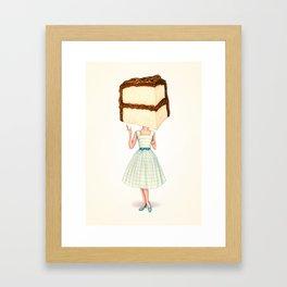 Cake Head Pin-Up - Chocolate Framed Art Print