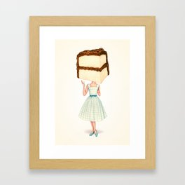 Cake Head Pin-Up - Chocolate Framed Art Print