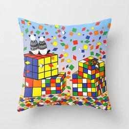 Rubix Panda Throw Pillow