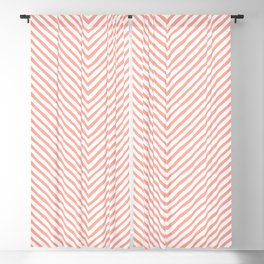 pink zigzag. retro Blackout Curtain