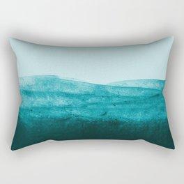 Aqua Watercolor Tide Rectangular Pillow