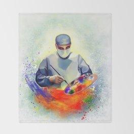 The Art of Medicine Throw Blanket