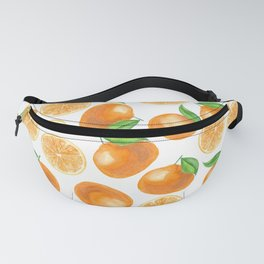 Watercolor tangerines Fanny Pack