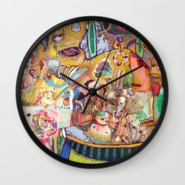 monster of mind ( Renovate work 2008-2016) Wall Clock