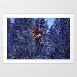 Finish Line Jump - Motocross Racing Champ Art Print