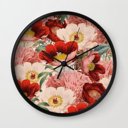 Vintage Garden #society6 Wall Clock
