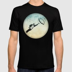 flying high Black X-LARGE Mens Fitted Tee