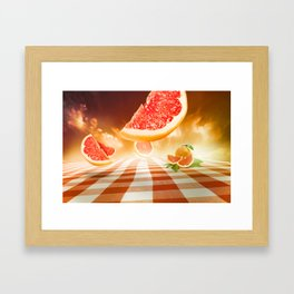 "Dancing Food ""Grapefruit"" Framed Art Print"