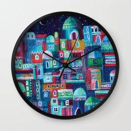 Mosaic City Wall Clock
