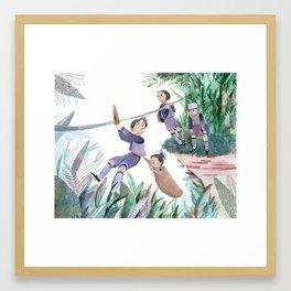 Zipline Framed Art Print