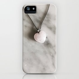 Heart necklace iPhone Case