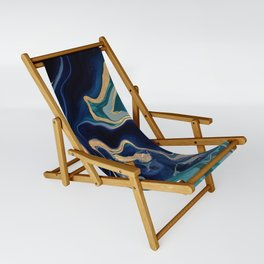 DRAMAQUEEN - GOLD INDIGO MARBLE Sling Chair