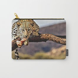 Leopard on the Tree Carry-All Pouch