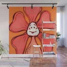 """Orange"" Color Chakra Flowerkid Wall Mural"