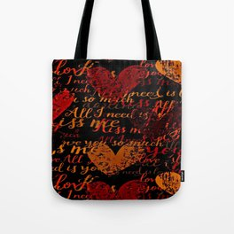 Kiss Me, Miss Me Red Tote Bag