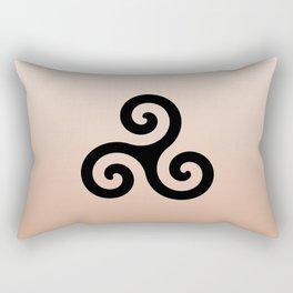 Triskele 7 -triskelion,triquètre,triscèle,spiral,celtic,Trisquelión,rotational Rectangular Pillow