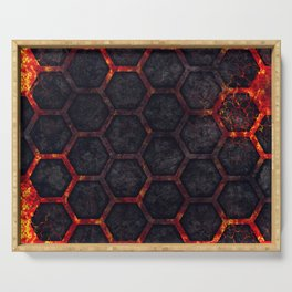 Lava Hexagons Serving Tray
