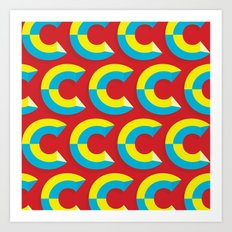 Many Cs Art Print