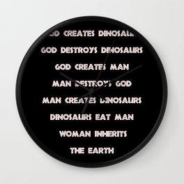 "Jurassic Park ""God Creates Dinosaurs"" Wall Clock"
