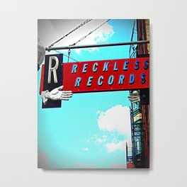 Reckless Records ~ chicago sign Metal Print