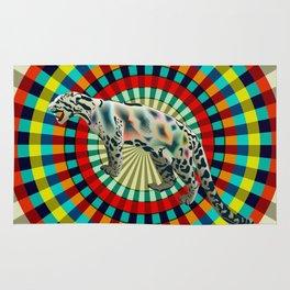 Clouded ( rainbow ) Leopard Rug