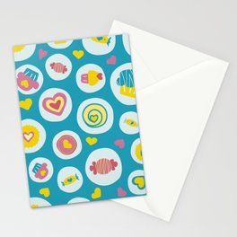 Blue circles sweet love  Stationery Cards
