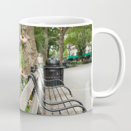 City Bench Flowers Coffee Mug