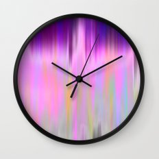 Raspberry Rain Blur Wall Clock