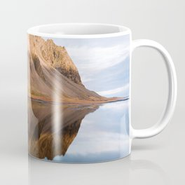 Symmetric Mountain Reflection In Iceland – Landscape Photography Coffee Mug